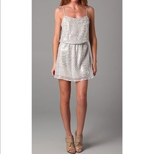 Parker Snake Sequin Cami Dress Small